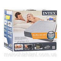 Серая надувная двуспальная кровать со встроенным электронасосом (Арт. 67770)