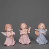 """Фарфоровые ангелочки """"Трио"""" 9 см необычные подарки на новый год и рождество"""