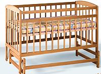 Детская кроватка на шарнирах (бук)
