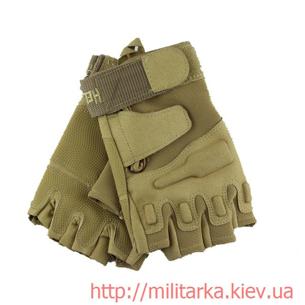 Тактические перчатки Blackhawk койот без пальцев