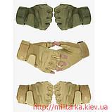 Тактические перчатки Blackhawk койот без пальцев, фото 3