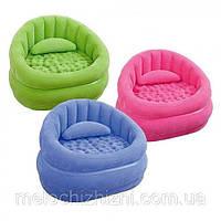 Велюр кресло комфортное, надувное, можно использовать и дома на природе, 3 цвета (Арт. 68563)