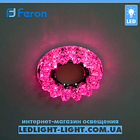 Врезной точечный светодиодный светильник Feron CD2540 LED с подсветкой RGB, фото 1