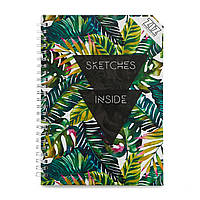 Sketchbook Джунгли Скетчбук 100г блокнот пальмовые листья