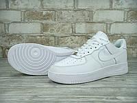 Мужские кроссовки Nike Air Force Low 1 белые унисекс (аир форсы, найки, эир форсы, белые форсы)