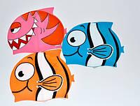 Шапочка для плавания  детская  оригинальный дизайн