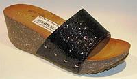 Шлепанцы женские черные Б456