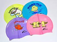 Шапочка для плавания детская  с рисунком