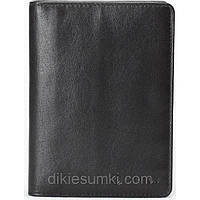 Обложка на паспорт  портмоне CARLTON Англия черного цвета 100% кожа