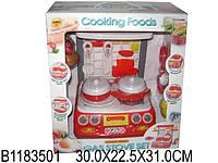 Плита игрушечная, на батарейках, посуда, продукты, 1936N