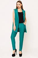 Стильный женский бирюзовый костюм Зарина   Leo Pride  44-48 размеры