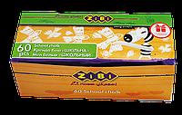 Мел белый 60шт., картонная коробка