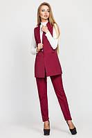 Стильный женский бордовый костюм Зарина   Leo Pride  44-48 размеры