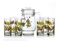 Luminarc Crazy Flowers Набор для воды из 7 предметов  (G4621)