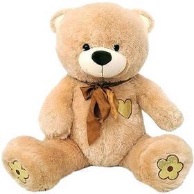 Плюшевый Мишка с сердечком Масяня 1340 60 см светло-коричневый