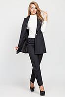 Стильный женский черный костюм Зарина   Leo Pride  44-48 размеры