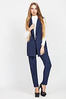 Стильный женский темно-синий костюм Зарина   Leo Pride  44-48 размеры