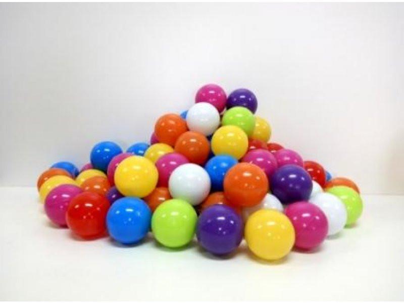 Шарики 60шт, d6см, мягкие, 02-413