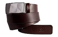 Кожаный мужской ремень (3.5 см) Chiuso Grande Pelle 311503541 шоколад