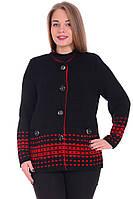 Вязанный пиджак - кардиган на пуговицах черный