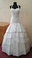 Белое свадебное платье-цветок, бедровка, размер 42-46 (новое)