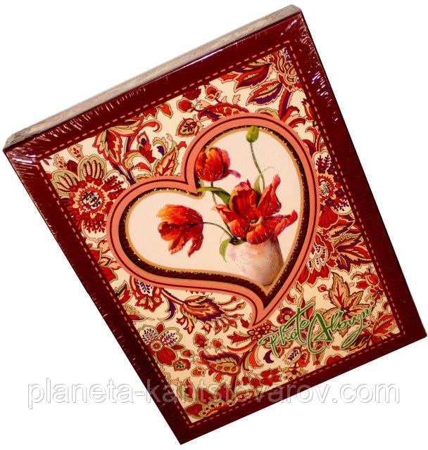 """Фотоальбом в коробке """"Цветы в сердце""""(10х15) 72-29201"""