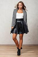 Молодежная черная юбка Кожа-солнце Leo Pride 42-44 размеры