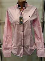 Модная женская рубашка (реплика) Polo ralph lauren розового цвета
