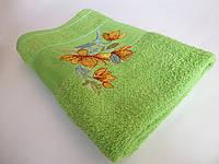 Махровое банное полотенце 140х70см (нарцисс) Салатовый