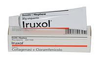 Ируксол ( Iruxol ) коллагеназу + хлорамфеникол 30гр мазь