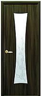 Дверь МОДЕРН ЧАСЫ экошпон, венге 3D, дуб жемчужный, кедр, сандал, ясень патна ( стекло сатин рис. Р3)