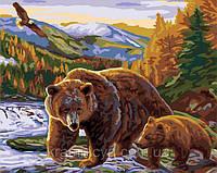 "Картина по номерам ""Медведица и медвежонок"", 40х50см, G351"