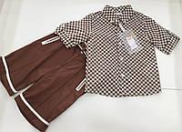 Детский летний костюм - рубашка , шорты - для мальчика на 2 - 5 лет