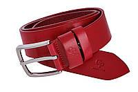 Кожаный женский ремень 120*4 Clasico Grande Pelle 465012300 красный