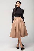 Трикотажная бежевая юбка Дори Leo Pride 42-48 размеры