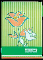"""Книга учета """"Цветы"""" 80 л/клет.оф.(тв. лам. обл), А4, салатовый"""