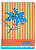 "Книга учета ""Цветы"" 80 л/клет.оф.(тв. лам. обл), А4, оранжевый"