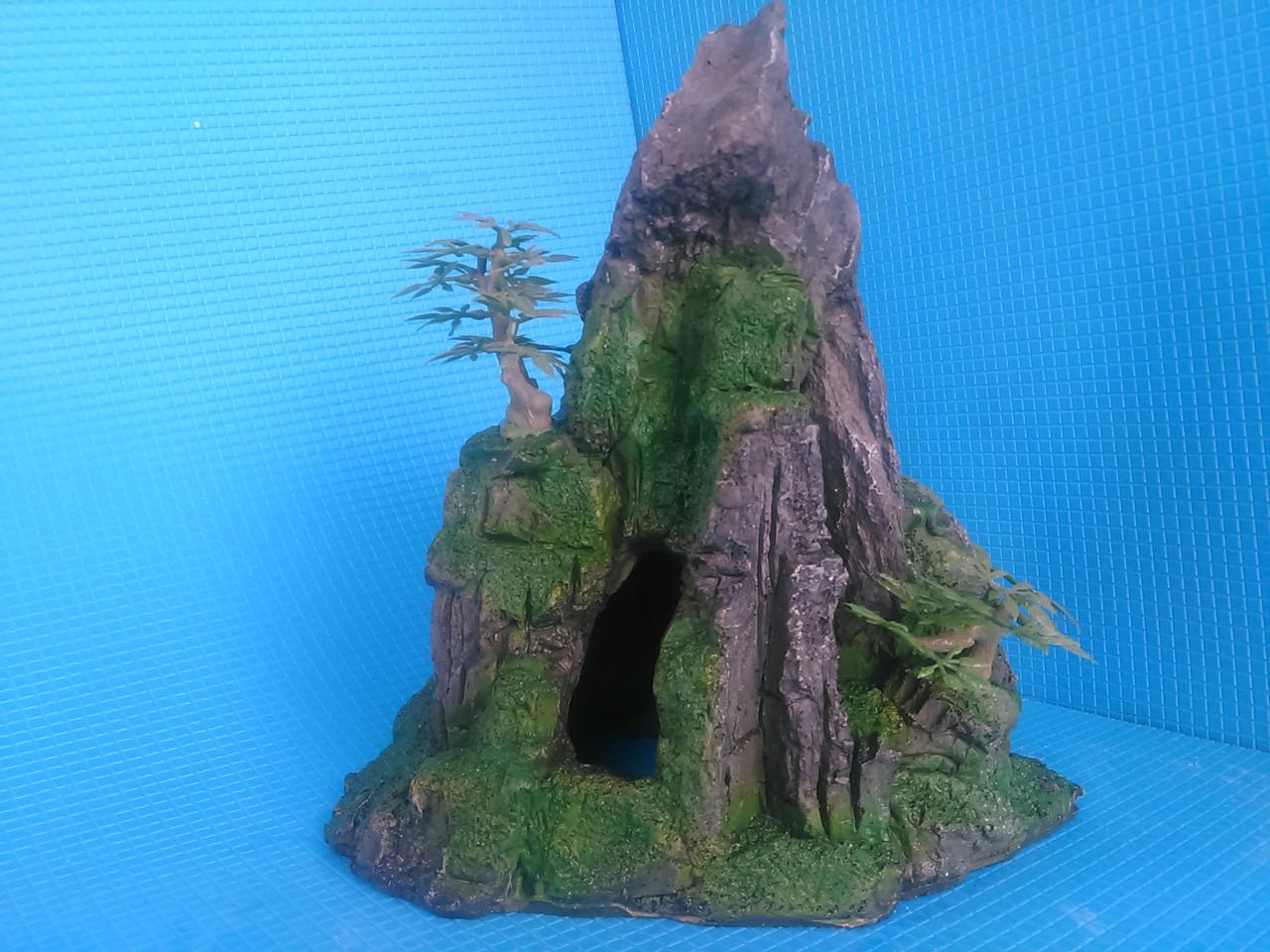 Скала полая с деревцами QD--024