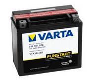 Аккумулятор для мототехники Varta 18Ач Moto AGM 518 902 026 (YTX20-BS) - фото 11