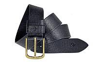Мужской кожаный ремень под джинсы 120*4 Classico Grande Pelle 441712300 синий