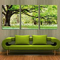 """Набор для вышивания крестом """"Зеленое дерево счастья""""3 шт 111 см"""