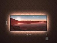 Картина с подсветкой Горное озеро 29x69