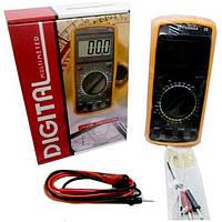 Профессиональный цифровой мультиметр тестер DT-9207А Качество! + щупы + термопара + крона!