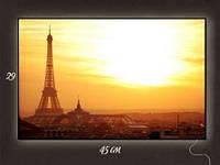 Картина с подсветкой Вид на Париж 29х45