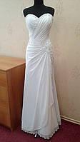 Изящное новое белое свадебное платье, А-силуэт, размер 42-46