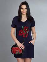 Женское платье с вышевкой от производителя, фото 1
