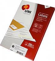 Этикетки самоклеющ. Uni Labels,А4, 38х21,2 мм, 65 шт