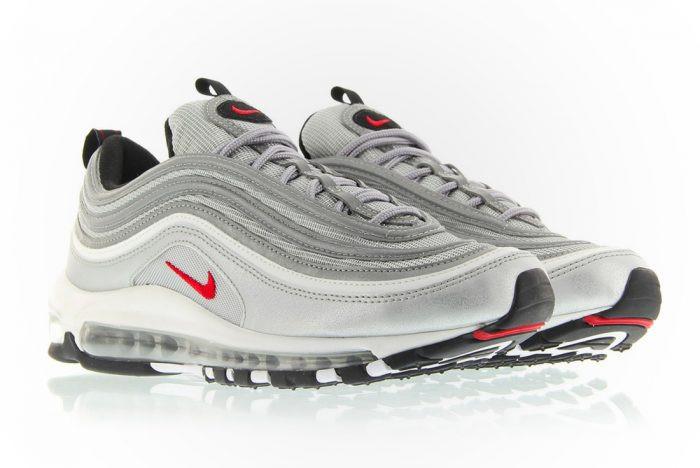Кроссовки мужские Nike Air Max 97 Silver Bullet топ реплика