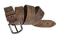 Кожаный мужской ремень под джинсы 120*4 Quadro Grande Pelle 412508800 тертый шоколад