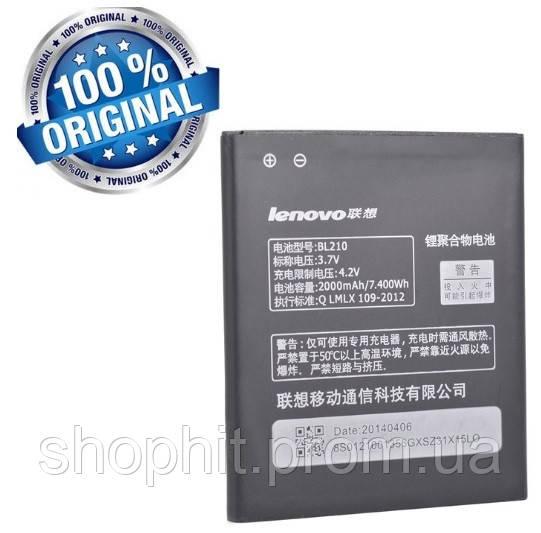 Аккумулятор батарея BL210 для Lenovo S820 S650 A358t A606 A529 A536 A656 A658t A766 A828t оригинал